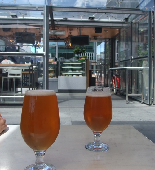 First beers of the day at No. 1 Queen Street.