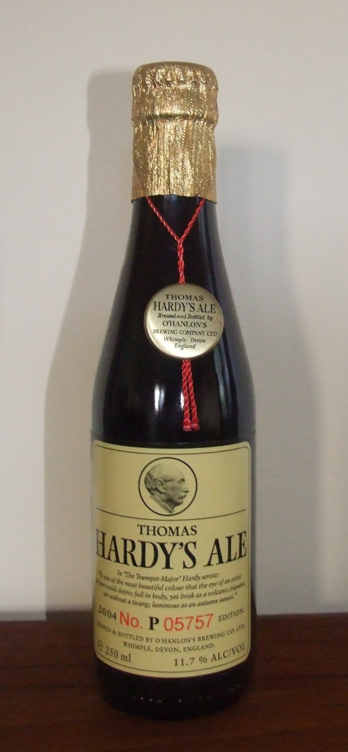 Thomas Hardy's Ale 2004. You know it's going to be good when the bottle has a gold medal around its neck.